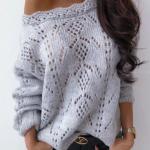 свитер женский спицами схема вязания
