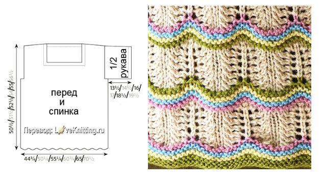 ажурный пулоевр спицами