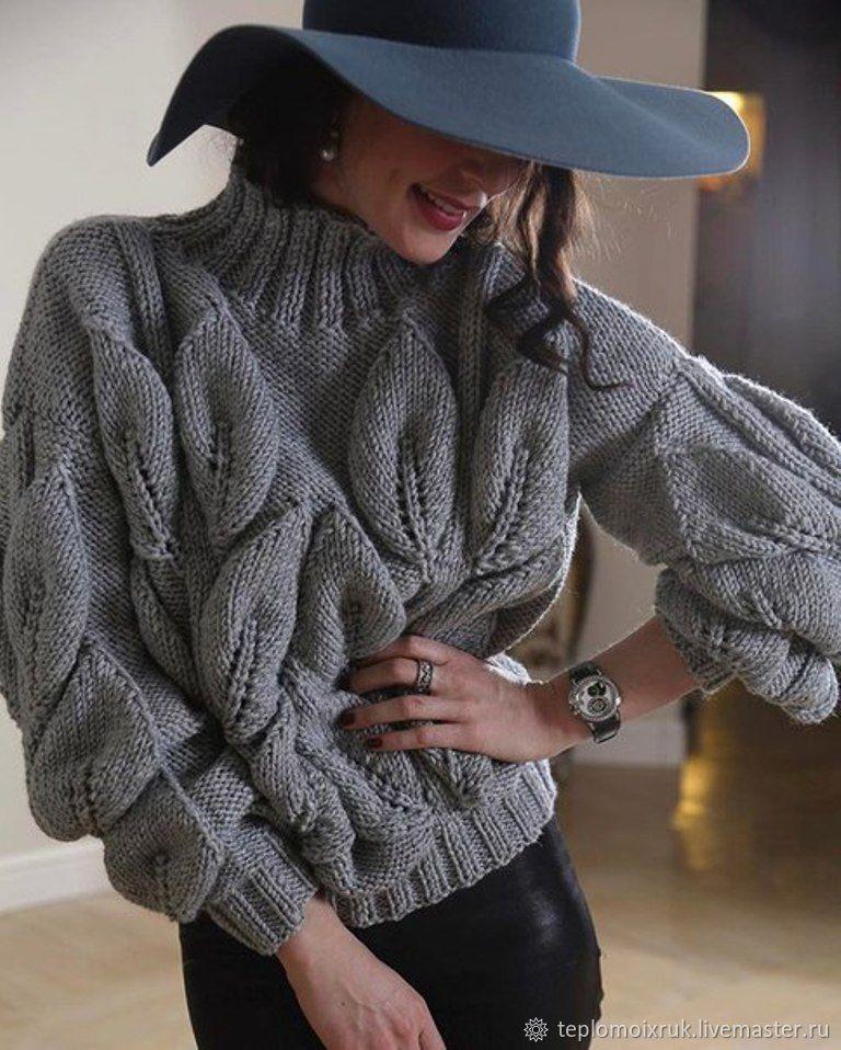 модный пуловер спицами 2020