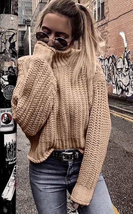 простой свитер спицами