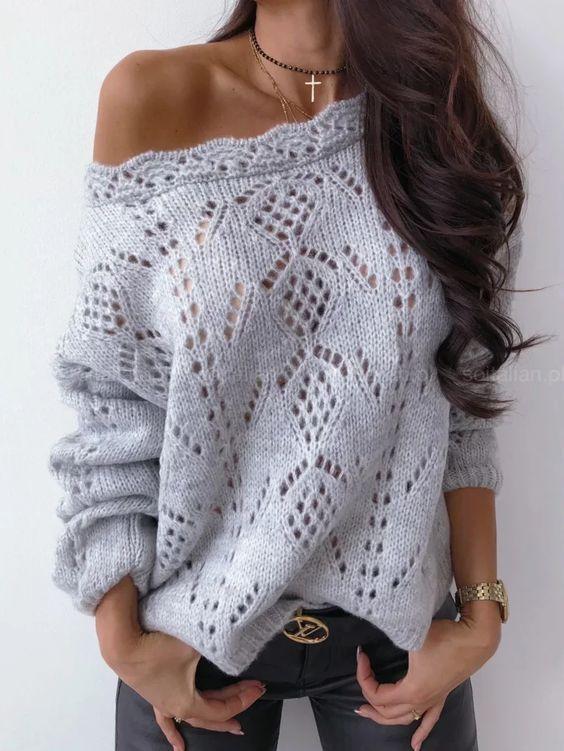 свитер женский спицами схема