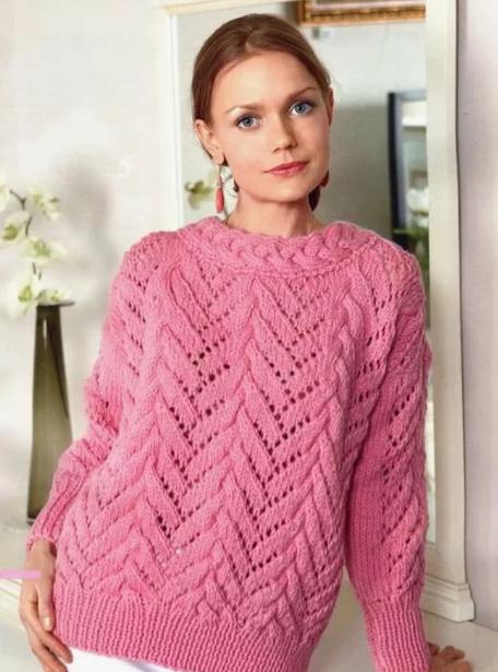 свитер женский спицами