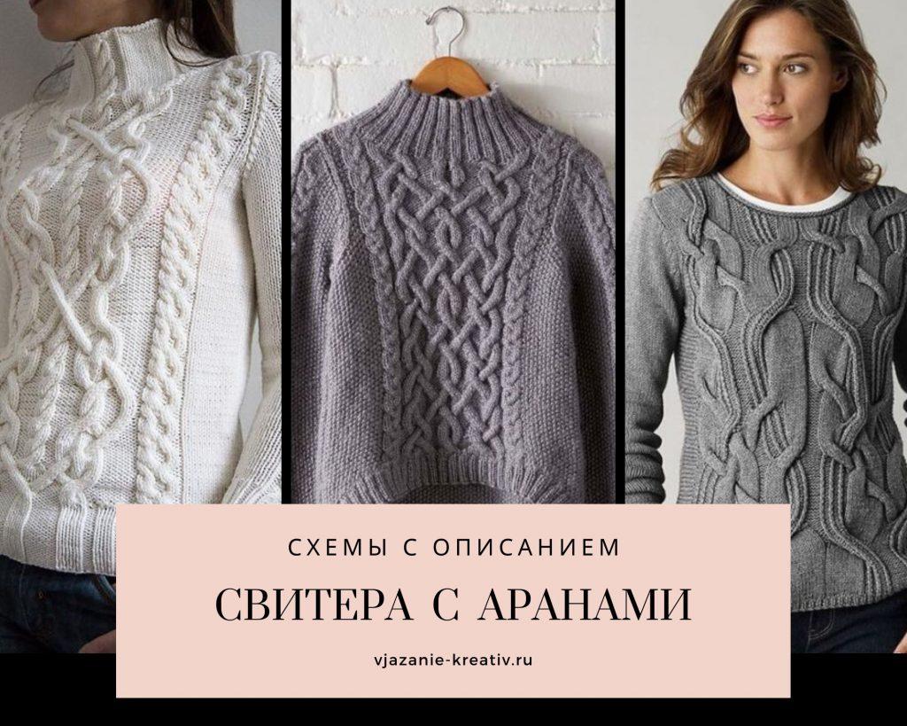 связать свитер женский