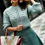 женский свитер спицами схема