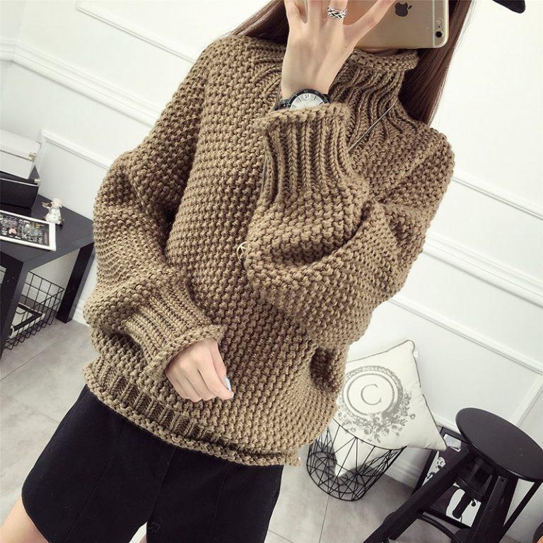 свитер крупной вязки
